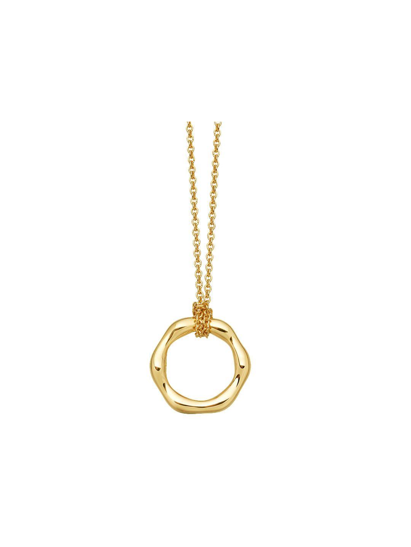 Missoma ct gold vermeil mini molten pendant necklace gold in
