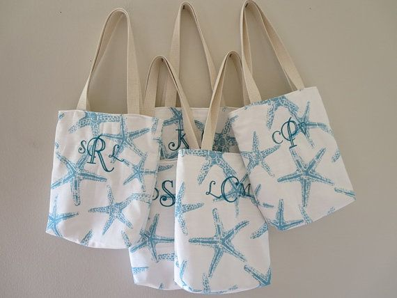 Hey, I found this really awesome Etsy listing at https://www.etsy.com/ca/listing/182572075/bridesmaid-totes-4-starfish-mini-totes