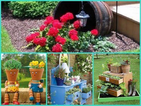Garden Ideas You Tube diy garden decor - 35 cheap and easy ideas - youtube | garden