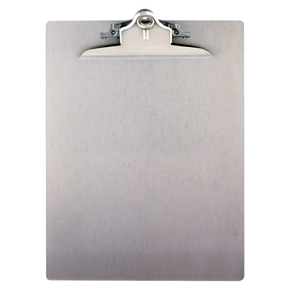 Saunders Clipboard - White, Silver