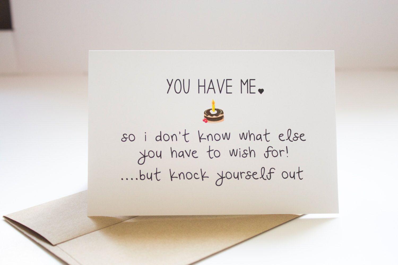 Funny Happy Birthday Cards For Boyfriend Him Sarcastic Husband Friends Wife GC11 By