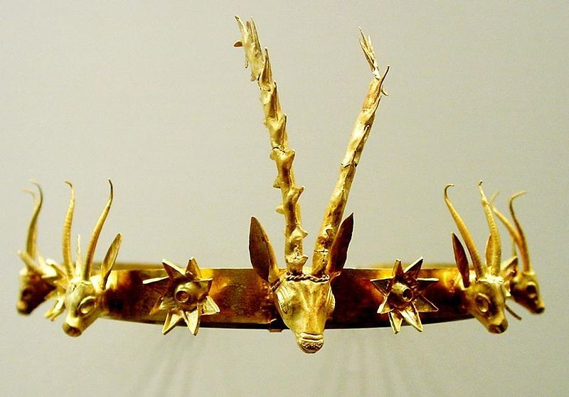 Info: A circlet or diadem of an unknown Egyptian Princess or Queen, from the 18th (c. 1550–c. 1292 BC) dynasty. Metal: Gold