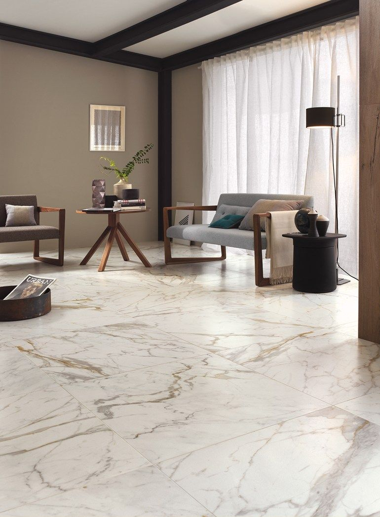 Porcelain Stoneware Flooring With Marble Effect Bistrot By Ragno