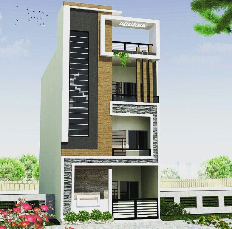 Narrow lot house plans modern floor also elev good elevation only terrace part pinterest front rh