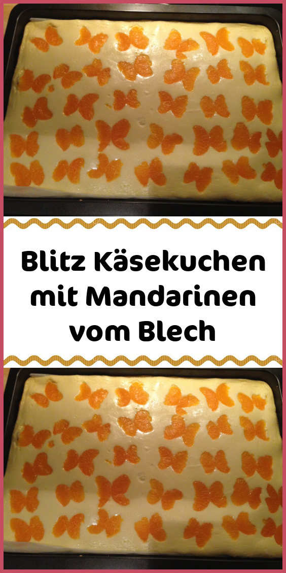 Photo of Blitz cheesecake with tangerines from the tray