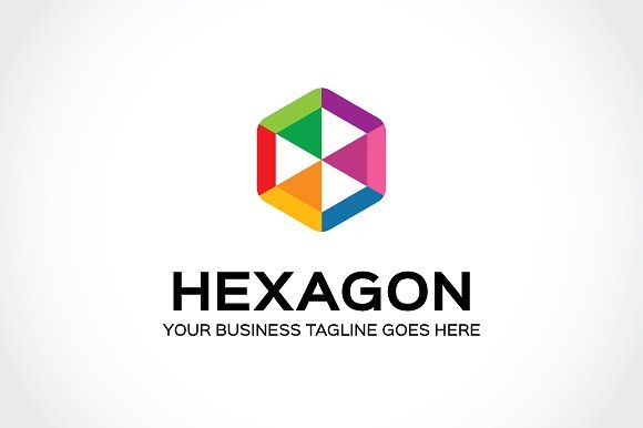 Hexagon Logo Template by Mudassir101 on @creativemarket | Logo ...