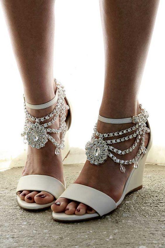 Ivoire Chaussures Femmes Wedge Escarpins Par Foreversoles