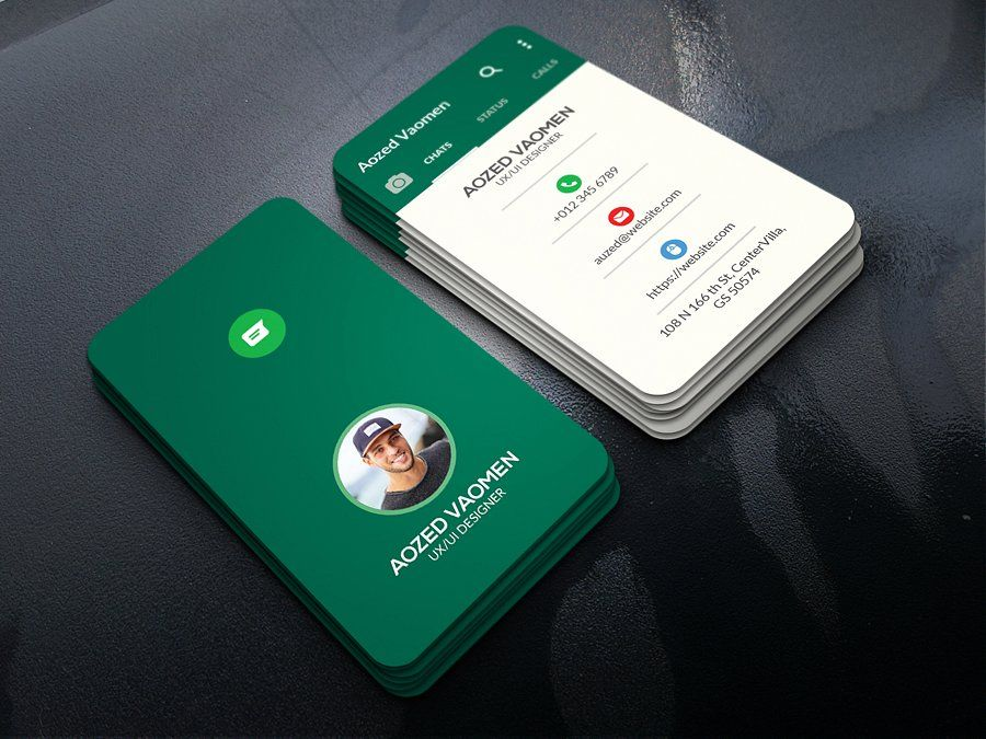 Whatsapp Business Card Examples Of Business Cards Business Card Design Cool Business Cards