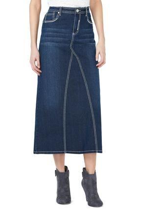 1b0dc3335 Cato Fashions Crystal Embroidered Pocket Denim Skirt - Plus #CatoFashions