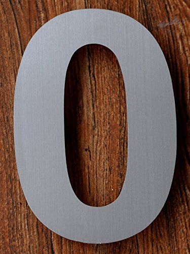 Qt Modern House Numbers 6 Inch Brushed Stainless Steel Number 0 Zero Floating Appearance Easy To Install And M Modern House Number Modern House House Numbers