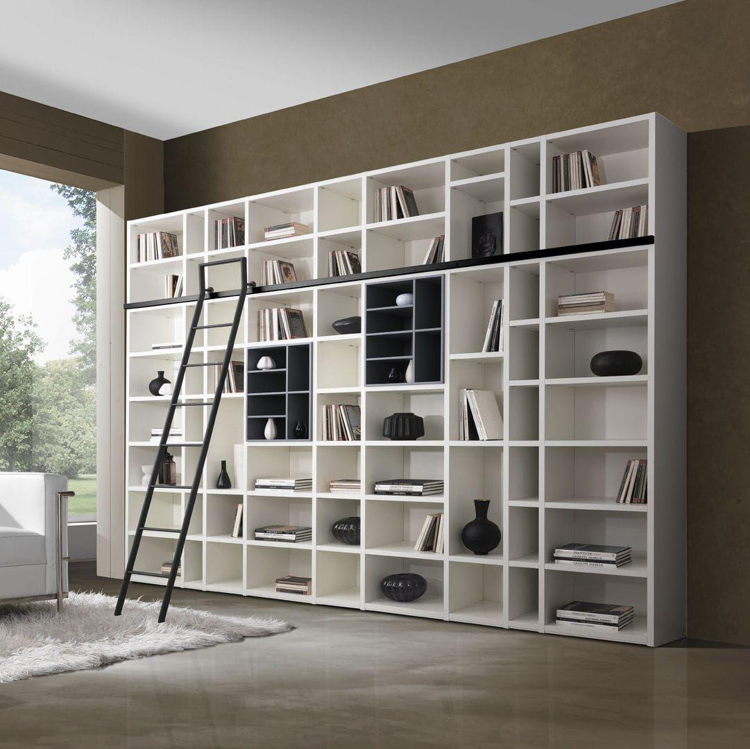 Libreria Moderna Laccata.Libreria Moderna In Legno Laccato G406 Giessegi Cose Da