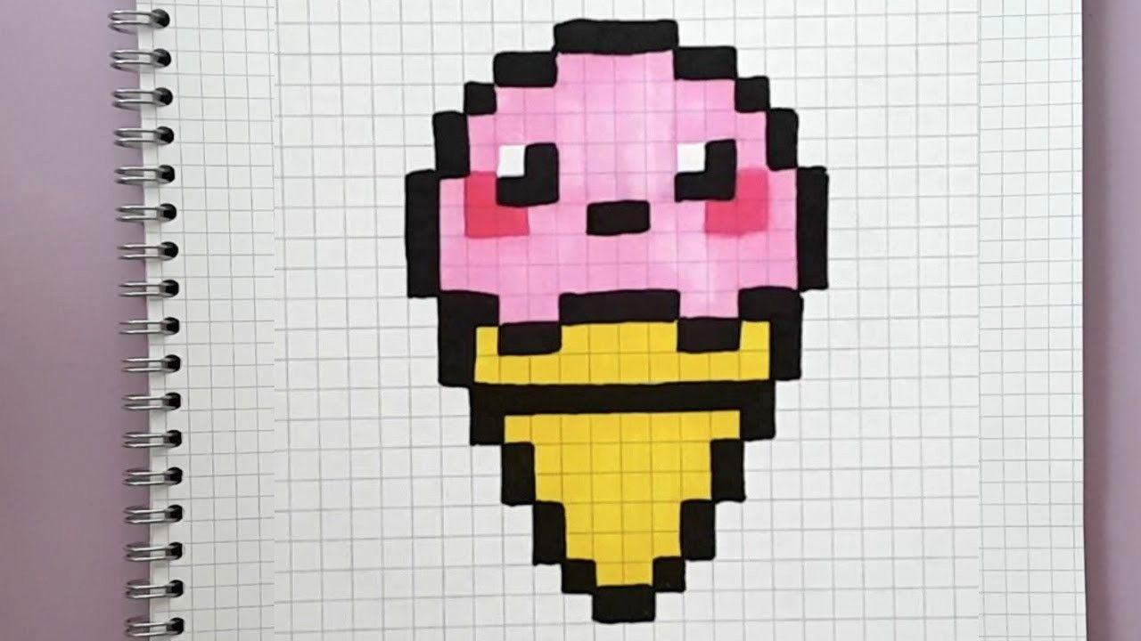 Glace Kawaii En Pixel Art Tuto Facile Youtube Avec
