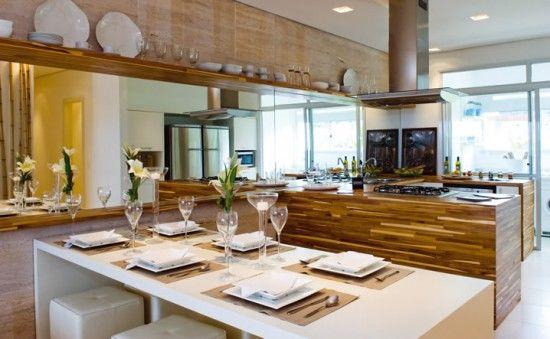 cocina moderna madera APARTAMENTOS Pinterest Cocina moderna