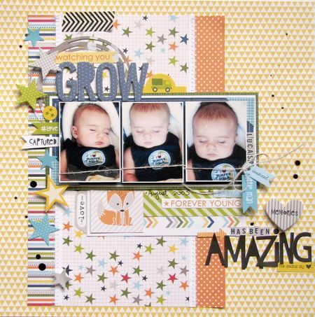 Bella Blvd Max Collection. Watching you Grow layout by DT member Nicole Nowosad