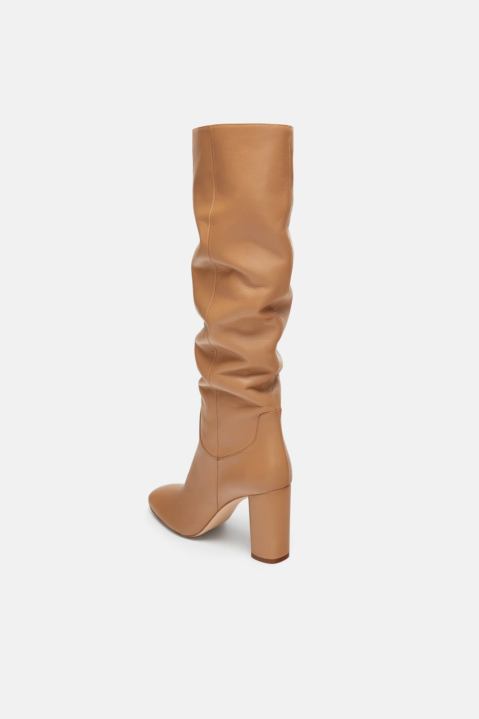f9e7deaae35 Image 5 of HIGH HEELED LEATHER BOOTS from Zara