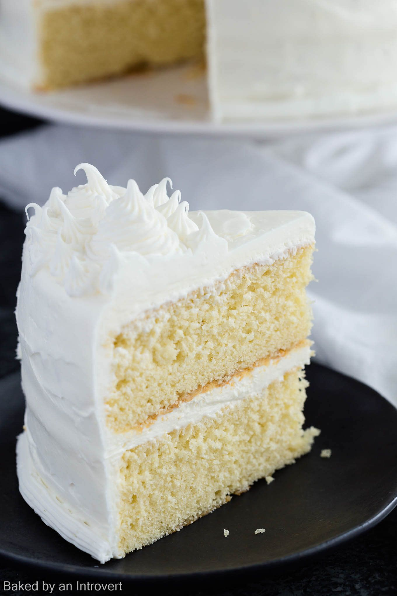 This Made From Scratch Basic Vanilla Cake Recipe Is A One That Must Be Added To Your Repertoire Its Light Tender And Full Of Vanilla Flavor