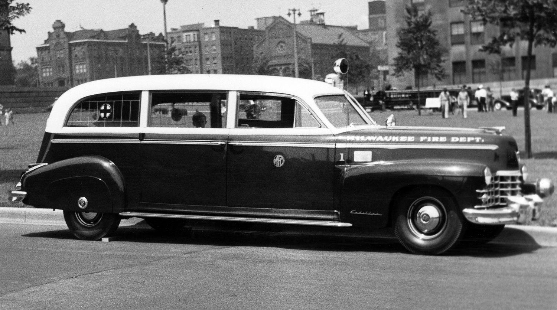 Milwaukee Fire Department's first ambulance, a 1947