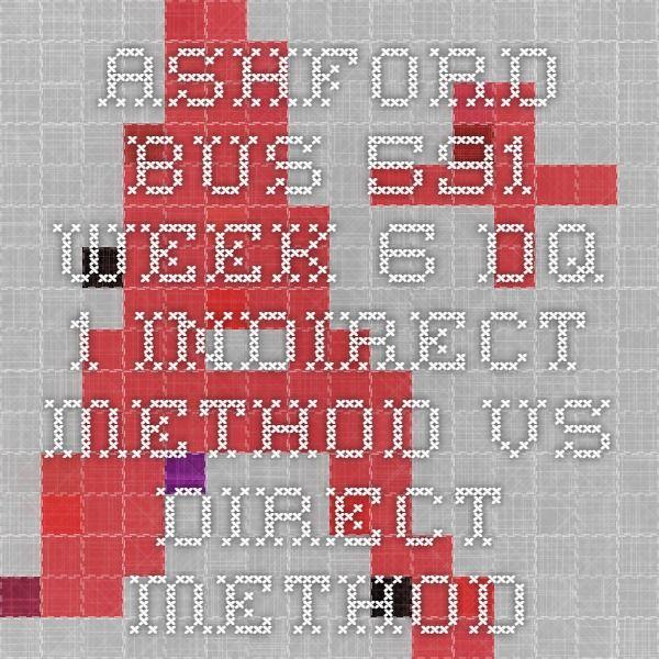 ASHFORD BUS 591 Week 6 DQ 1 Indirect Method vs. Direct Method