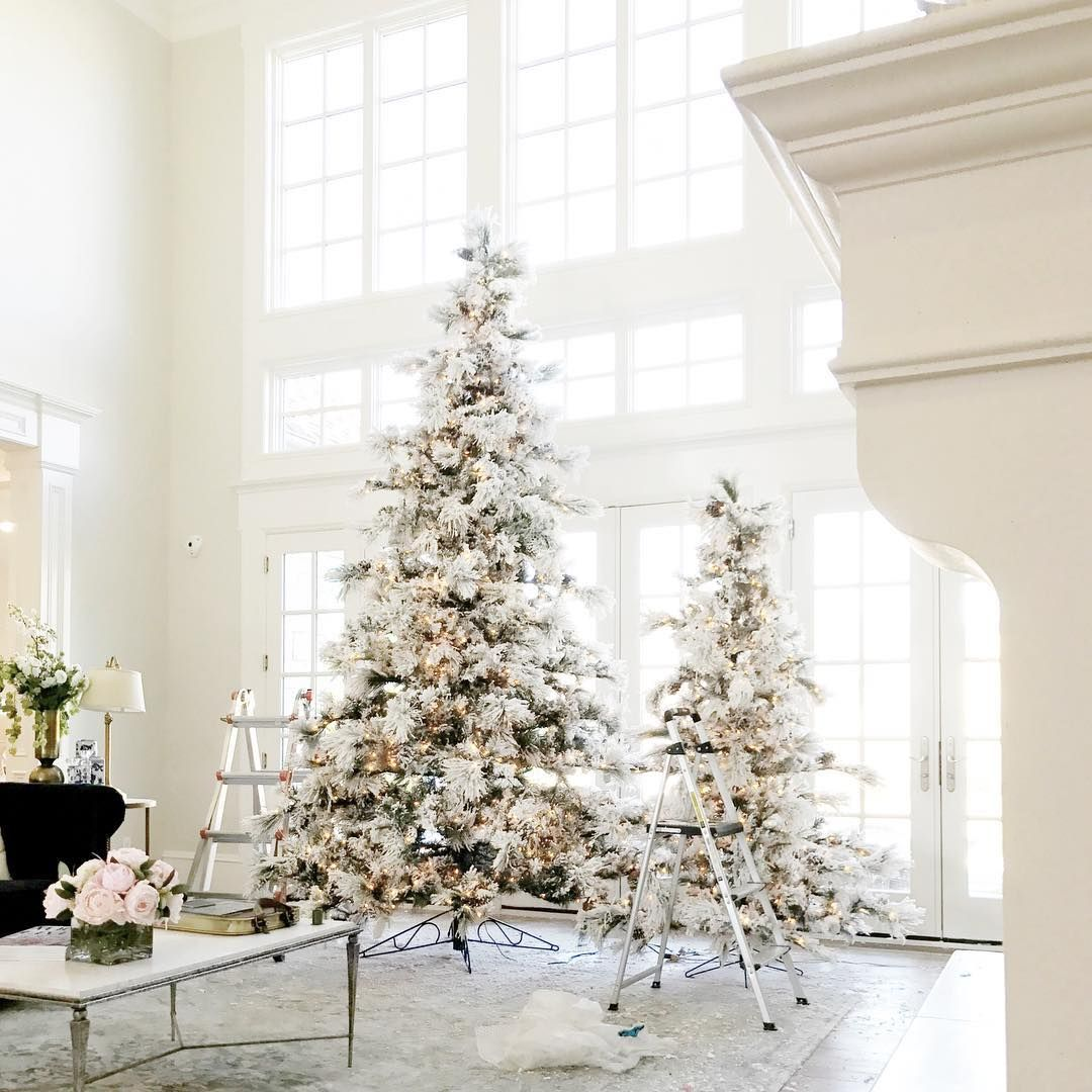 Frosted Slim Christmas Tree: 12 Of The Best Flocked Christmas Trees In Every Size
