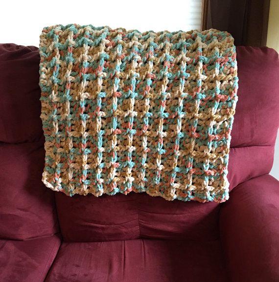 Crochet Lapghan Warm Lap Wheelchair Afghan Blanket By