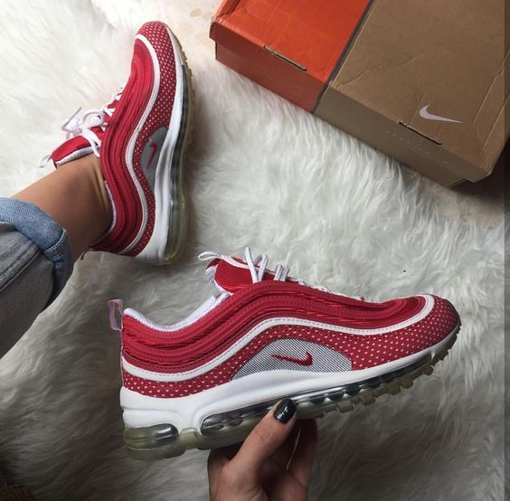 Nike Air Max 97 in red/rot // Foto: gloria_m.fer (Instagram) | sneakers n  heels | Pinterest | Air max 97, Air max and Instagram