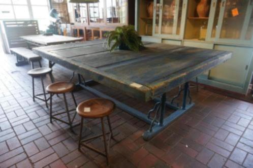 ≥ brocante tafel paktafel fabrieks tafel industriële tafel tafels