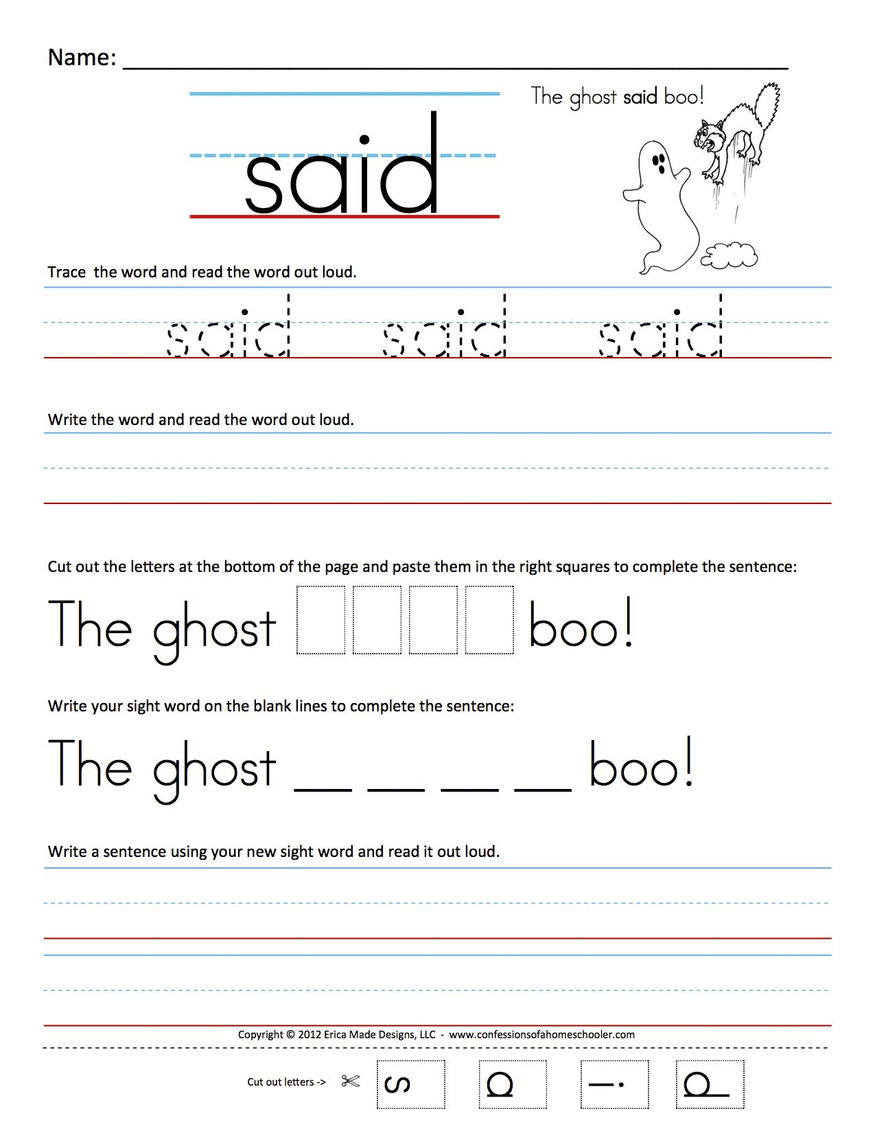 Pin By Marcilla Jackson On Sight Words