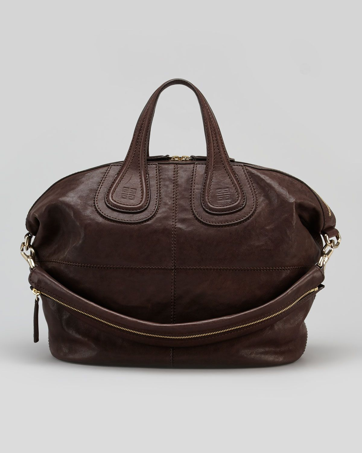 26ebe86a6c4 Givenchy Nightingale Zanzi Medium Satchel Bag in Brown (chocolate) | Lyst