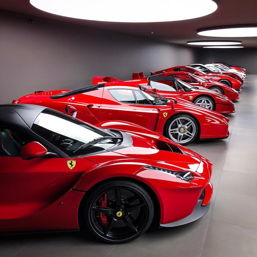 This View Doesn T Get Old It S Crazy To Compare All The Different Models And See The Evolution Of Them And This Is Wh Expensive Sports Cars La Ferrari Ferrari