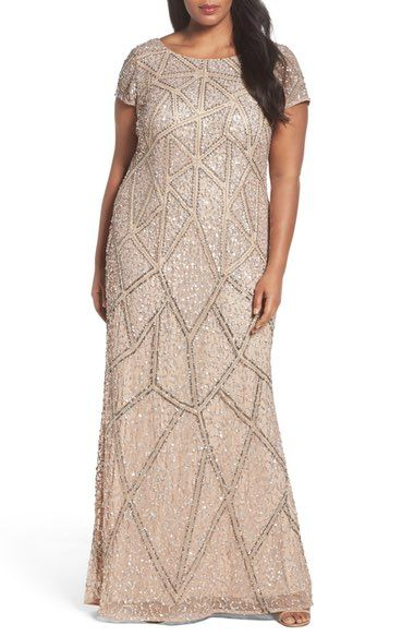 6e39b5c7b0ec Main Image - Adrianna Papell Embellished Scoop Back Gown | fancy ...