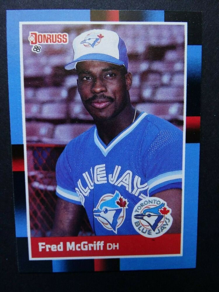 1988 Donruss 195 Fred Mcgriff Toronto Blue Jays Baseball Card