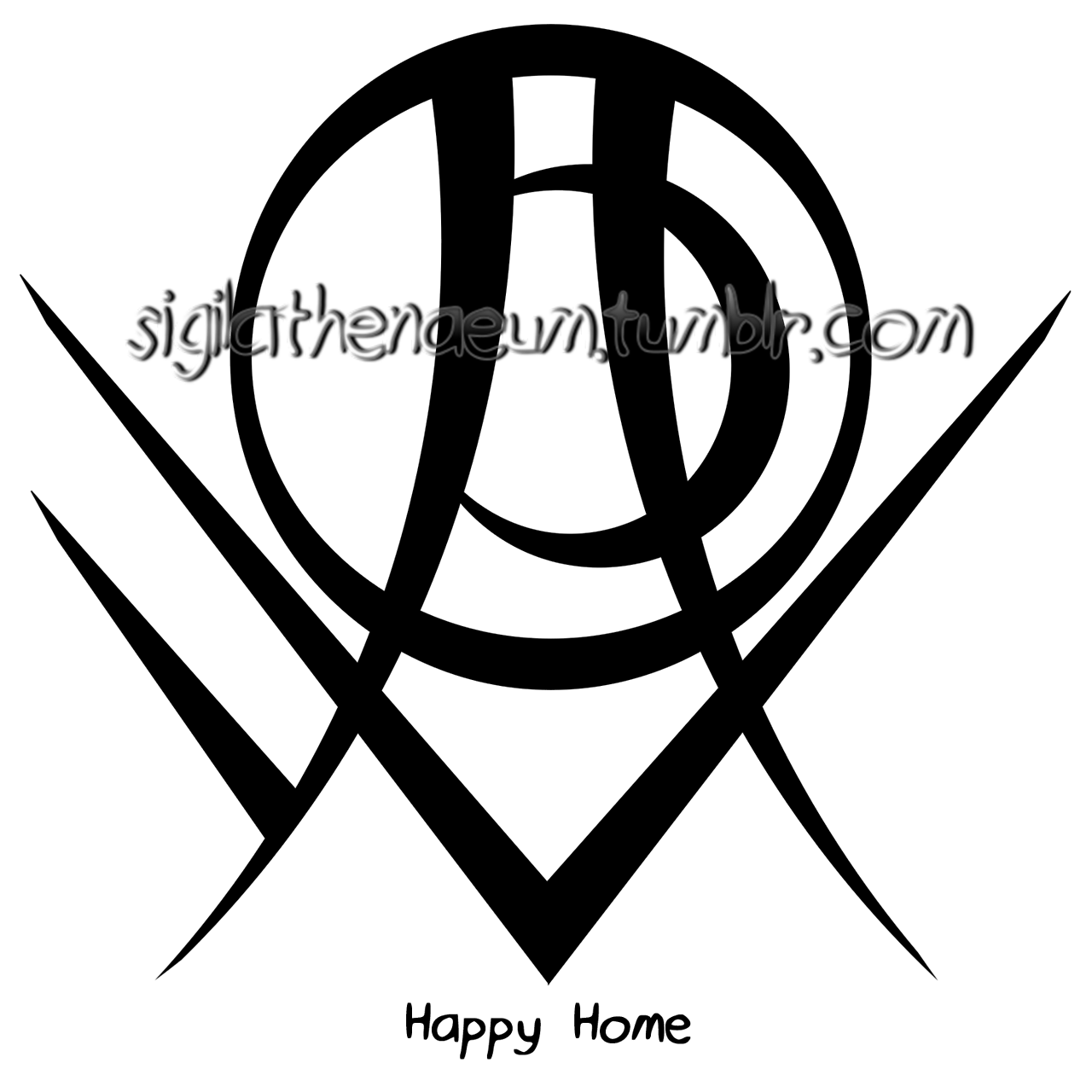 Happy Home Sigil For Anonymous Requests Are Open Sigil Sigil Magic Wiccan Spell Book