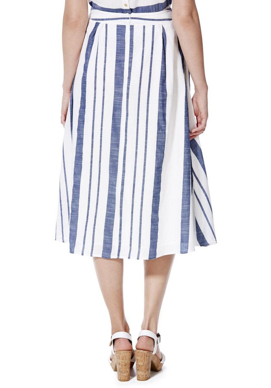280f2417119a Clothing at Tesco | F&F Striped Midi Skirt > outfit-builder > Women's Skirts  > Women
