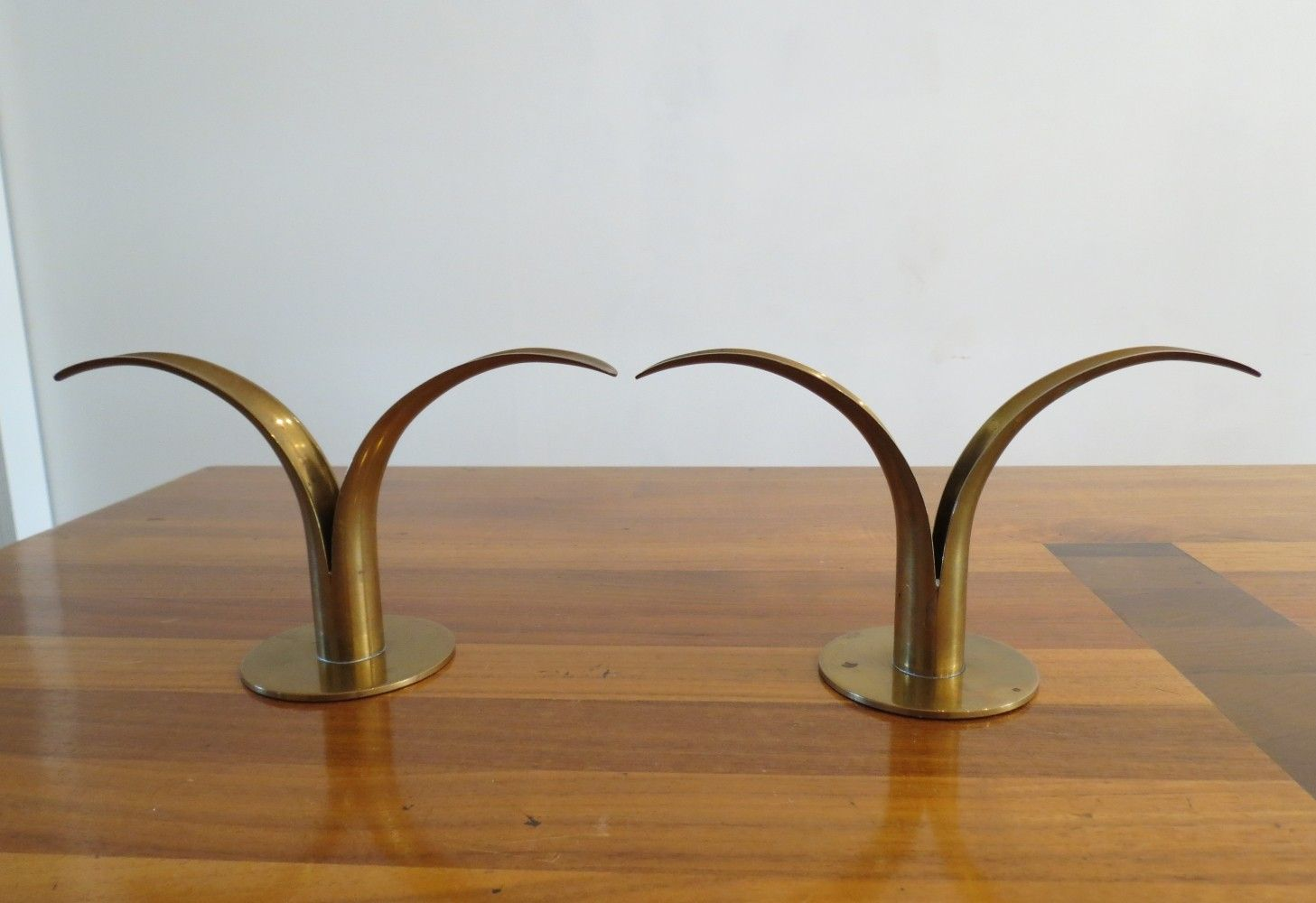 Pair of lilly candleholders by ivar alenius bjork s various