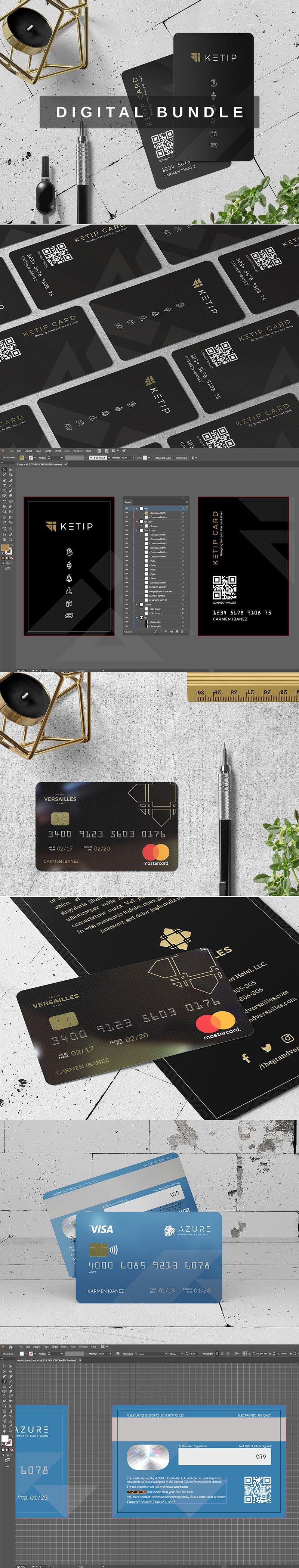 Save 20 Three Modern Sleek Templates Of Bank Card In One Stunning Bundle