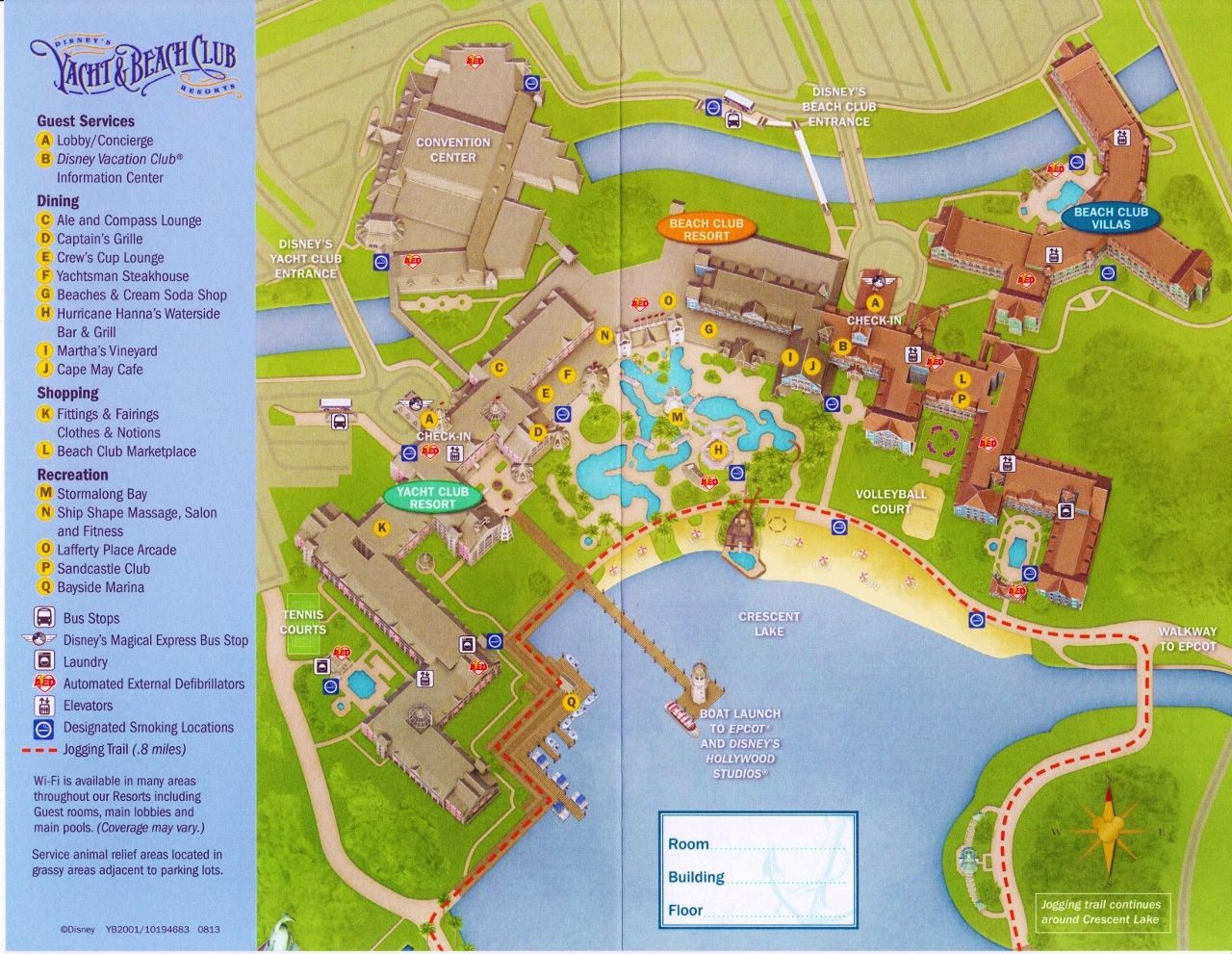 map disney's yacht and beach club resorts and beach club villas. review disney's beach club villas  beach club resorts and villas