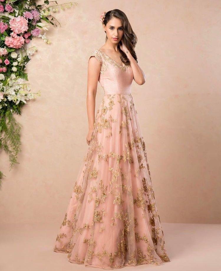 Pink Wedding Gown Online India: Pinterest: @pawank90