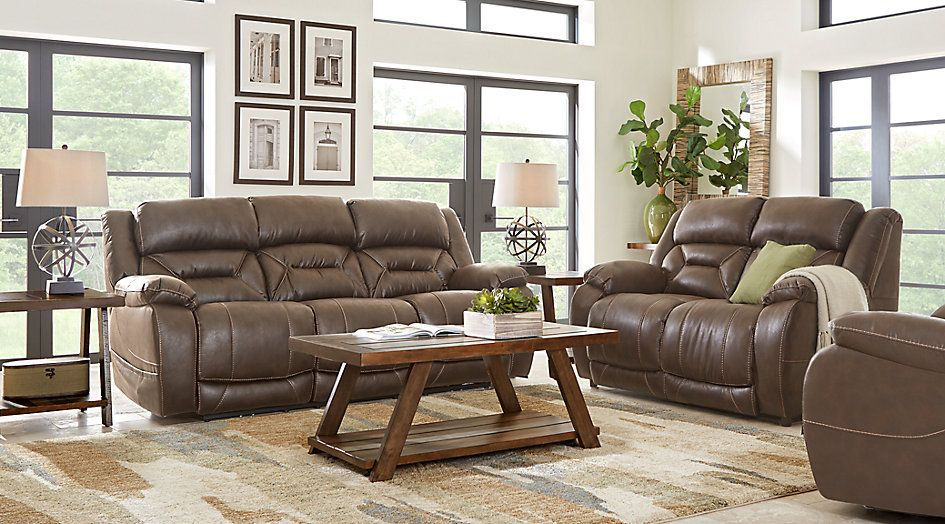 Fabulous Griffin Valley Walnut 2 Pc Living Room With Triple Power Onthecornerstone Fun Painted Chair Ideas Images Onthecornerstoneorg