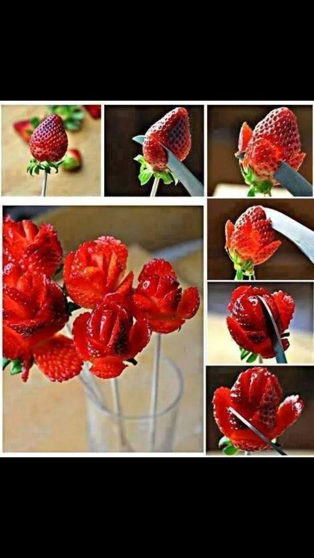 Flower strawberries