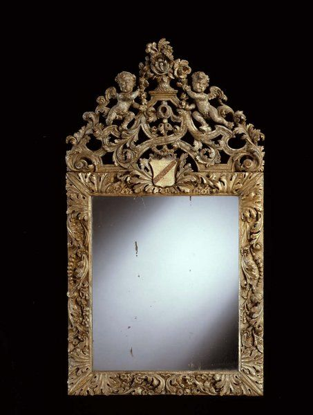 A Late 17th Century Silvered Flemish Mirror From The