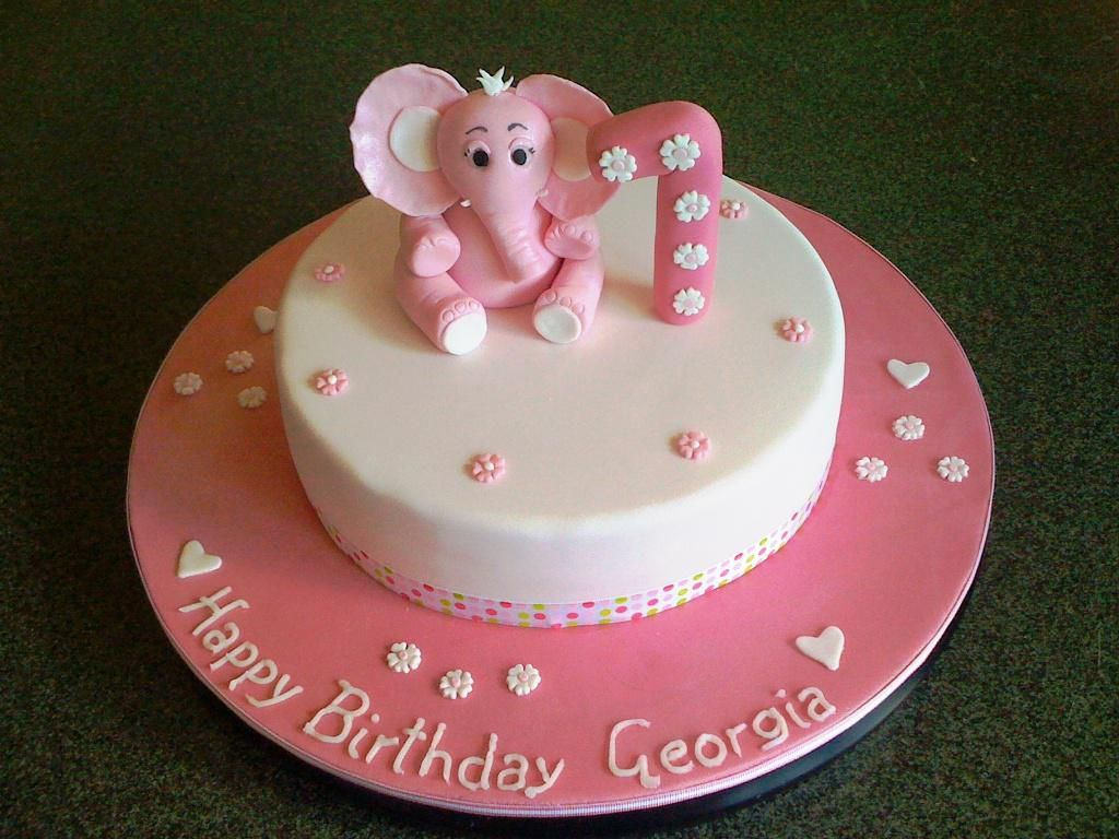 1st Birthday Cake Baby Girl