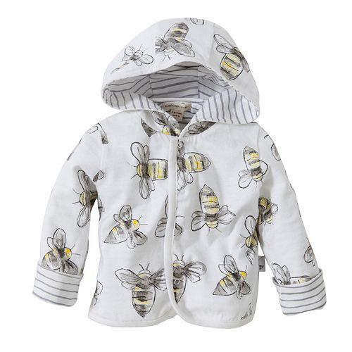 7383807a2 Baby Boy Burt s Bees Baby Organic Reversible Stripe   Bee Jacket ...