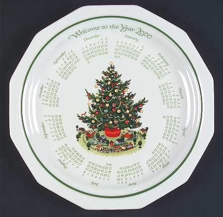 Pfaltzgraff Christmas Heritage 2000 Calendar Plate 11 99 At