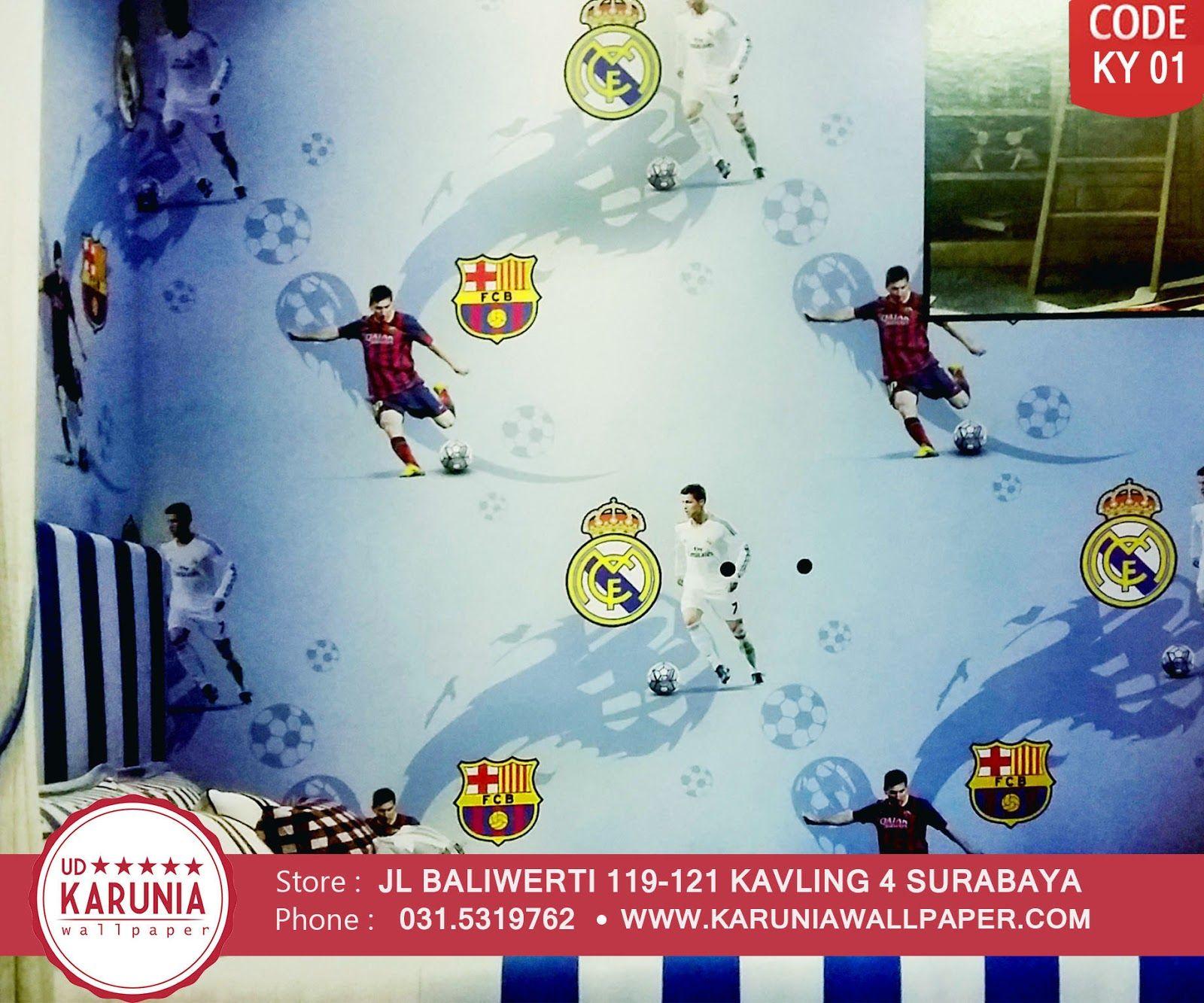Jual Wallpaper DInding Motif Club Sepak Bola Http Www