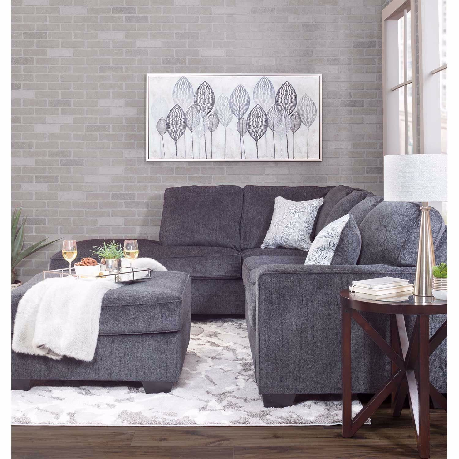 Altari Slate 2 Pc Sectional With Laf Chaise Sectional Home
