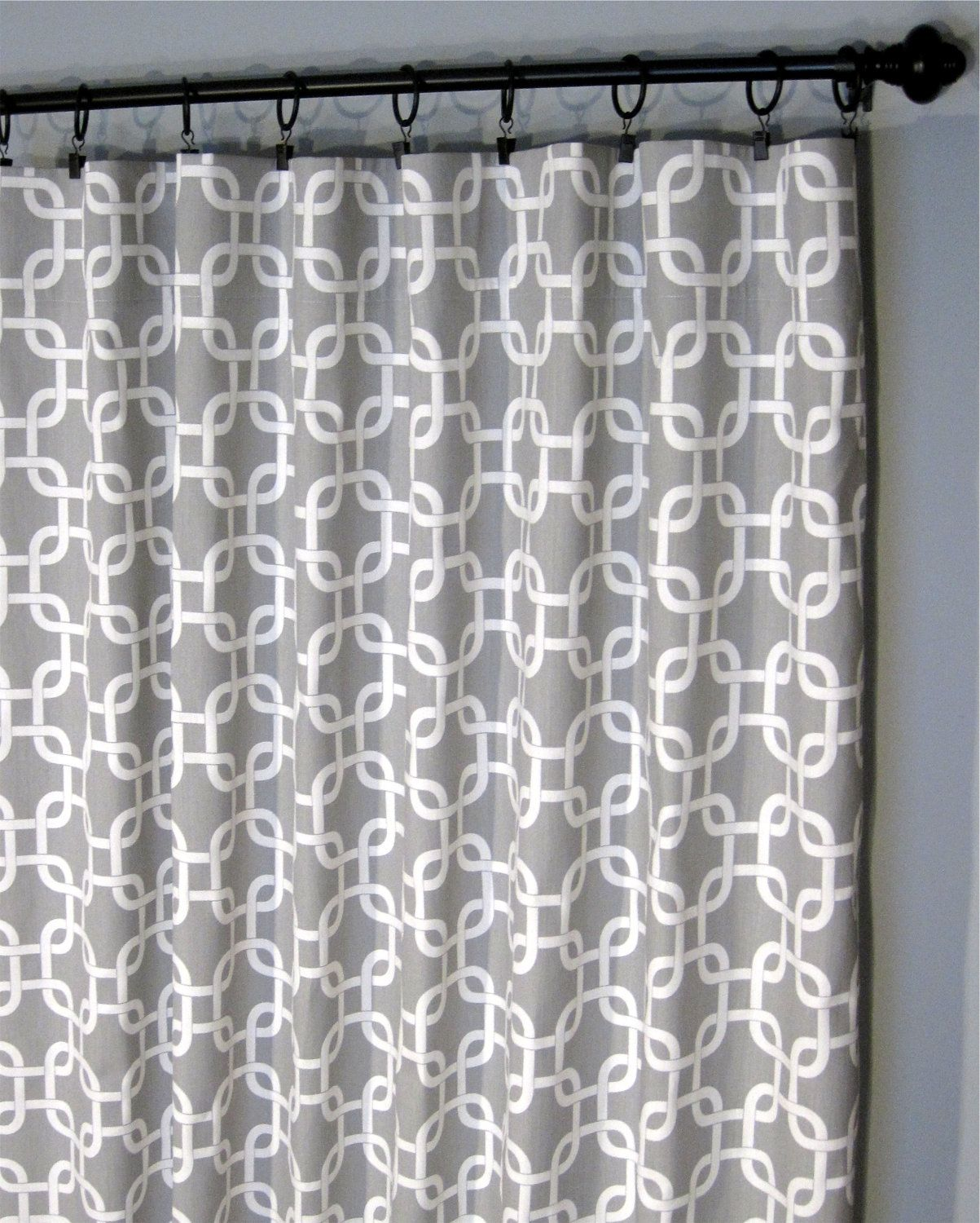 Grey Geometric Curtains Two Gotcha Curtain Panels 50 X96
