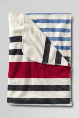 Stripe Fleece Throw from Lands' End