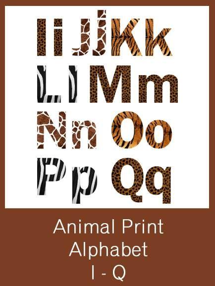 Animal Print Alphabet Letters - FREE PDF Download Safari theme