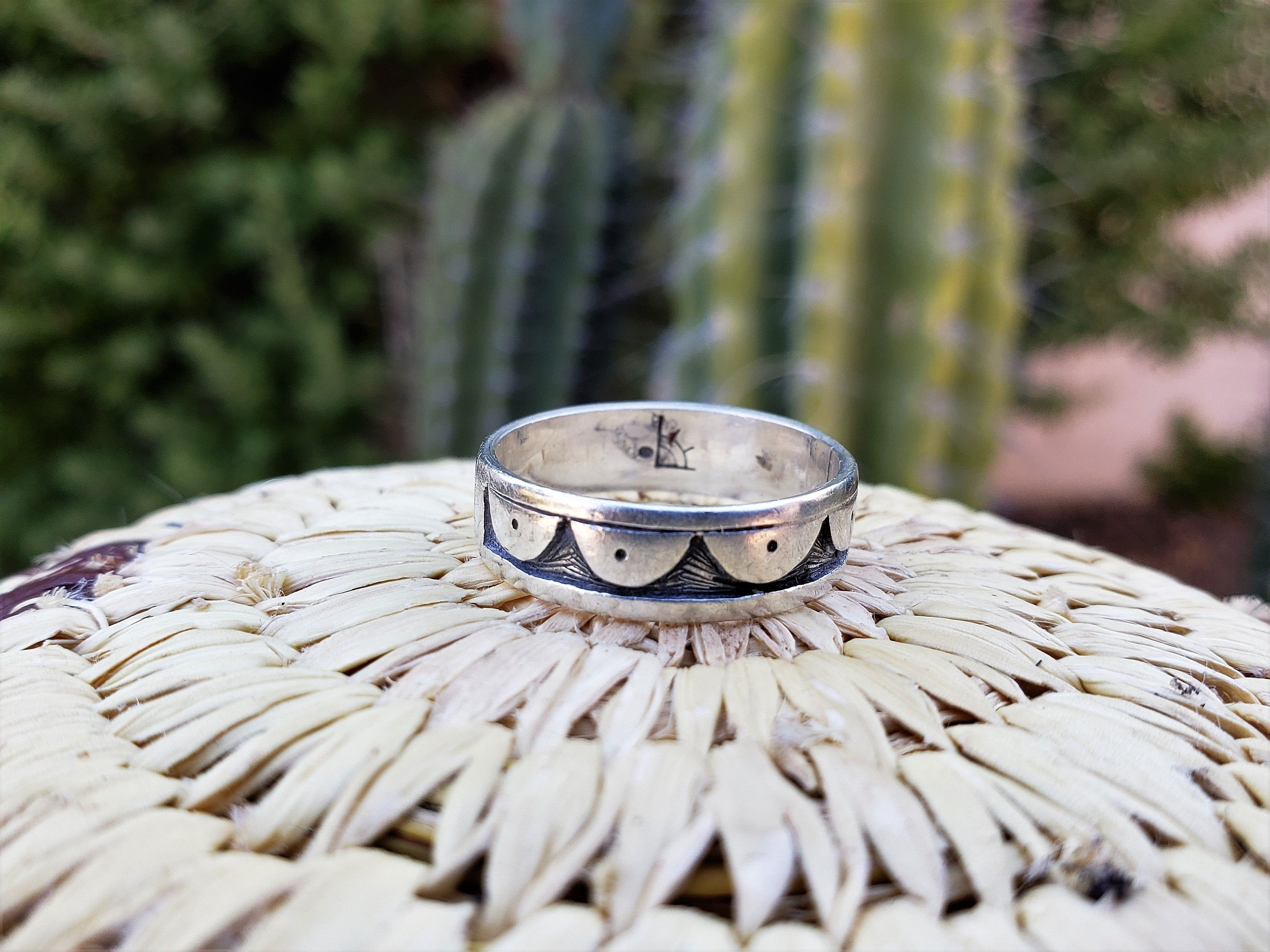 Clifton mowa sterling silver hopi ring size 9 artist