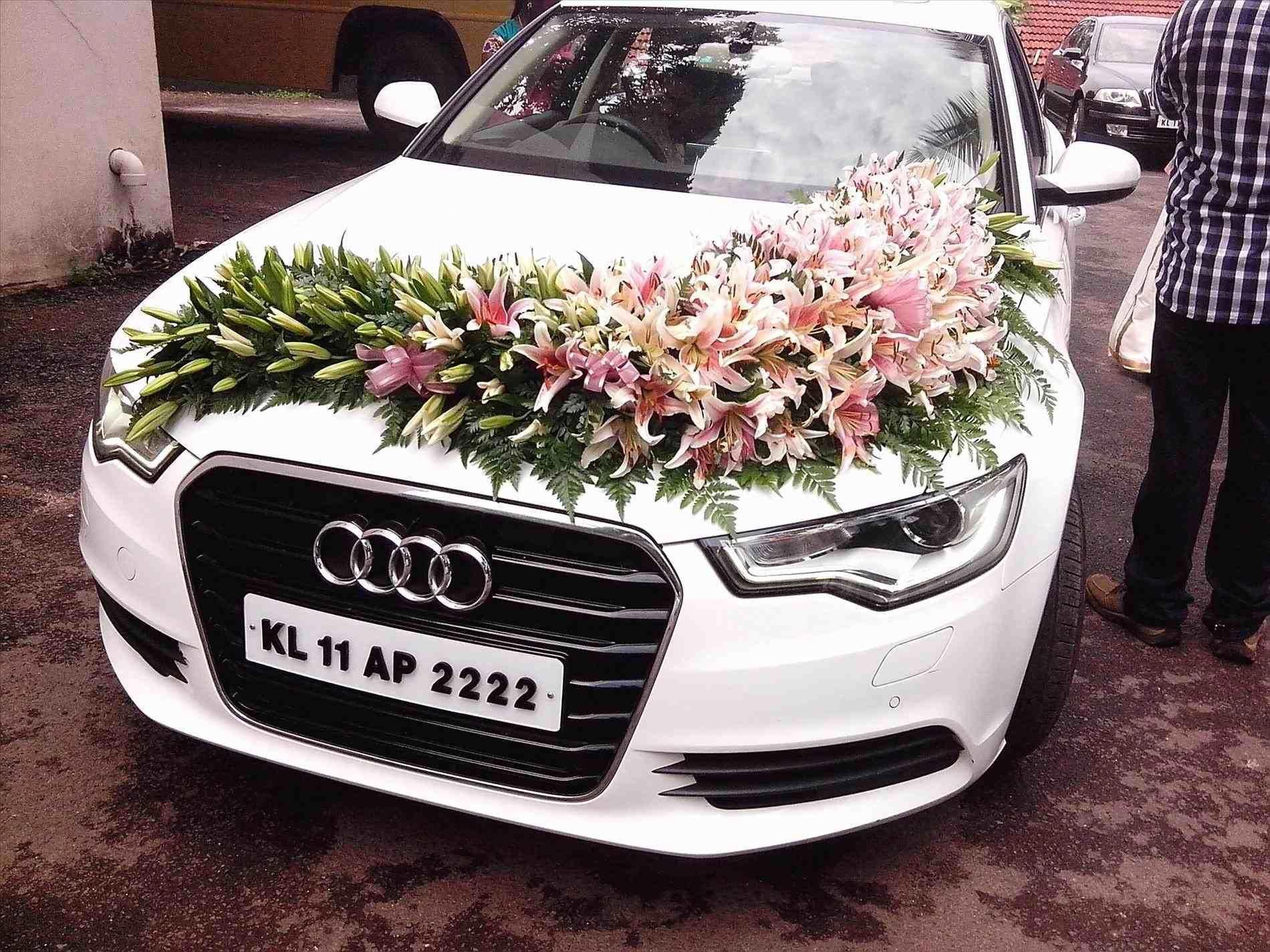 wedding car decoration pink | Wedding car decorations ...